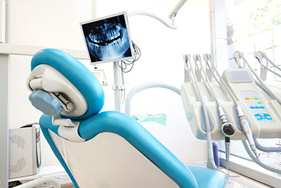 Dental chair with x-ray at Mid Valley Dental